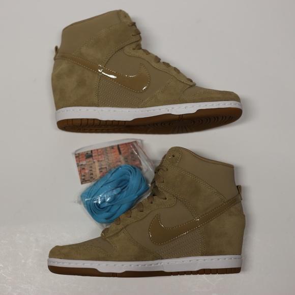the best attitude f0f4d 34ce6 Nike Dunk Sky Hi Wedge brown Desert Camo Shoes